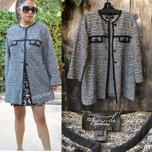 ST JOHN COUTURE Long tweed blazer (2)